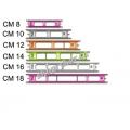 Kostřička na udice 8-10-12-14-16-18cm