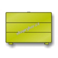 Krabička De Luxe -3 přihrádky