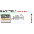 Obratlíky Triana Takara Black Triple+Safety Snap